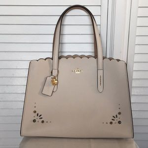Coach Charlie Carryall Tote Leather Satchel